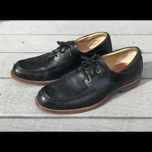 Ugg Calfskin Leather Oxford Shoe 10 Black Moc Toe
